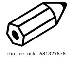 pencil | Shutterstock .eps vector #681329878
