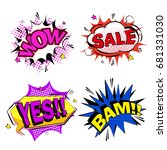pop of cartoon expression on... | Shutterstock . vector #681331030