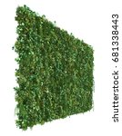 3d rendering of vertical garden   Shutterstock . vector #681338443