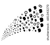 fountain of intellect gears... | Shutterstock . vector #681343270