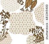 gold geometric background... | Shutterstock .eps vector #681345400