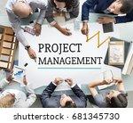 project management work process ... | Shutterstock . vector #681345730