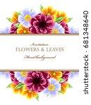 vintage delicate invitation... | Shutterstock .eps vector #681348640
