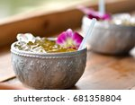 Small photo of drink and food