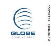 creative globe concept logo... | Shutterstock .eps vector #681362020