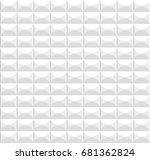 white geometric texture. vector ...   Shutterstock .eps vector #681362824