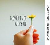 inspiration motivation quote...   Shutterstock . vector #681363934