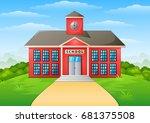 vector illustration of school...   Shutterstock .eps vector #681375508