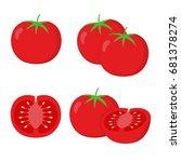 tomato illustration vector... | Shutterstock .eps vector #681378274