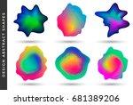 vibrant gradient design... | Shutterstock .eps vector #681389206