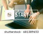 start up business concept.... | Shutterstock . vector #681389653