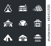 set of buildings icons. | Shutterstock . vector #681411520