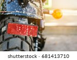 in the morning  dirt on a... | Shutterstock . vector #681413710