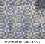 color pattern weave bands.... | Shutterstock . vector #681417778