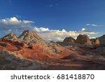 white pocket in the vermilion... | Shutterstock . vector #681418870