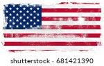 united states of america flag... | Shutterstock . vector #681421390