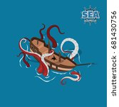 Broken Sailer With Kraken On A...