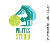 pilates logo for pilates school ... | Shutterstock .eps vector #681431164