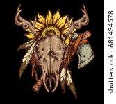 vector illustration of native... | Shutterstock .eps vector #681434578