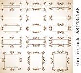 decorative frames | Shutterstock . vector #681435568