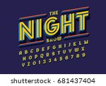 vector of stylized bold font... | Shutterstock .eps vector #681437404