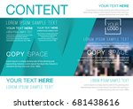 presentation layout design... | Shutterstock .eps vector #681438616