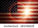 Solar Eclipse With Usa Flag ...