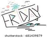 happy friday slogan graphic   Shutterstock .eps vector #681439879