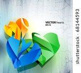 vector heart. | Shutterstock .eps vector #68144593