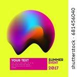summer background with liquid... | Shutterstock .eps vector #681456040
