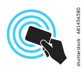near field communication  nfc ... | Shutterstock .eps vector #681456580