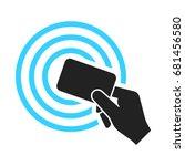 near field communication  nfc ... | Shutterstock .eps vector #681456580