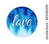 round watercolor background... | Shutterstock .eps vector #681460390