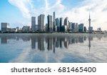 shanghai skyline panorama... | Shutterstock . vector #681465400