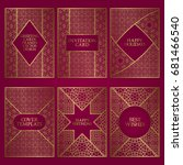 set of greeting cards templates.... | Shutterstock .eps vector #681466540