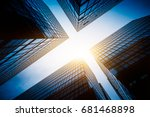 skyscrapers from a low angle... | Shutterstock . vector #681468898