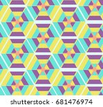 colorful hipster polygons...   Shutterstock .eps vector #681476974