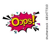 bubble with expression text... | Shutterstock .eps vector #681477310
