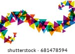 vector  abstract background... | Shutterstock .eps vector #681478594