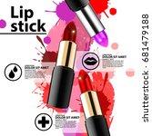 fashion lipstick ads  trendy... | Shutterstock .eps vector #681479188