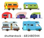 campers cars set. different... | Shutterstock .eps vector #681480544