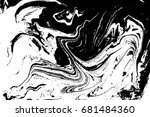 black and white liquid texture. ... | Shutterstock .eps vector #681484360