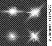 eps10. glow light effect. star... | Shutterstock .eps vector #681491920