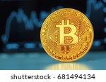Stock photo bitcoin crypto currency diagram 681494134