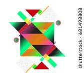 trendy geometrical vector... | Shutterstock .eps vector #681498808
