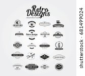 retro and vintage label design... | Shutterstock .eps vector #681499024