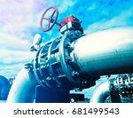 industrial zone  steel... | Shutterstock . vector #681499543