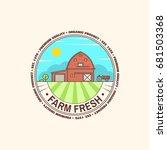 fresh farm badge  label or sign ... | Shutterstock .eps vector #681503368