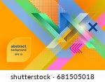 textural design. abstract... | Shutterstock .eps vector #681505018