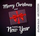 illustration of merry christmas ... | Shutterstock .eps vector #681505534